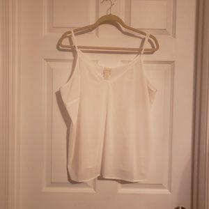 Chico's Off White Adjustable Strap Camisole